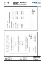 3.8 Güteurkunde für Türenklasse II / E HGM-Türen - Grauthoff