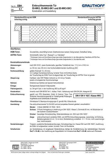 Einbruchhemmende tür  2.1 Einbruchhemmende Tür 40-WK1, 40-WK1-SK1 und ... - Grauthoff