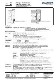 RD 4.2 Ganzglas- Rauchschutztür L&H Typ E und L&H ... - Grauthoff