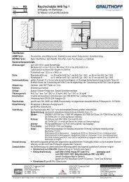 RD 2.2 Rauchschutztür AHS Typ 1 - Grauthoff