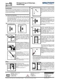 1.5 Montageanleitung und Einbautipps Pendeltürzarge - Grauthoff