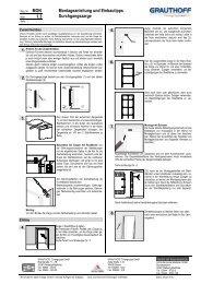 1.3 Montageanleitung und Einbautipps Durchgangszarge - Grauthoff