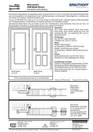 2.3 Wohnraumtür HGM Modell Weimar - Grauthoff