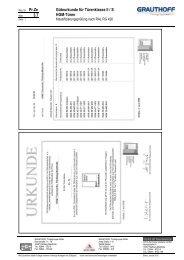 3.7 Güteurkunde für Türenklasse II / S HGM-Türen - Grauthoff