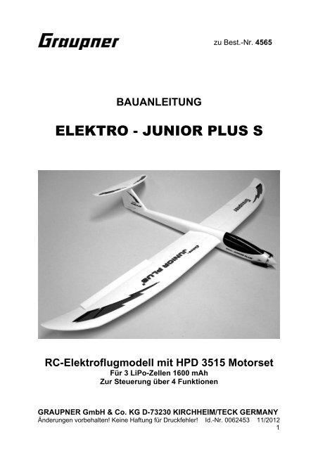 ELEKTRO - JUNIOR PLUS S - Graupner