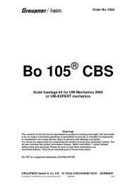 Bo 105 CBS - Graupner