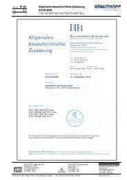 5.1 Allgemeine bauaufsichtliche Zulassung Z-6.20-2048 - Grauthoff
