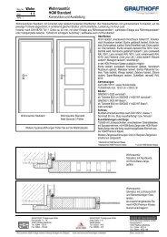 1.1 Wohnraumtür HGM Standard - Grauthoff