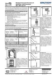 3.1 Montageanleitung bei Elementen mit Stahlzarge ... - Grauthoff