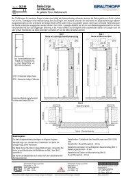 1.1 Basis-Zarge mit Oberblende - Grauthoff