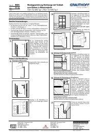 11.1a Montageanleitung Stahlzarge mit Türblatt zum ... - Grauthoff