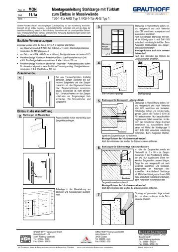 4 2 aufma hilfe f r t ren in stahlzargen grauthoff. Black Bedroom Furniture Sets. Home Design Ideas