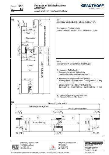 4.5 Falzmaße an Schallschutztüren 65 WE SK3 - Grauthoff