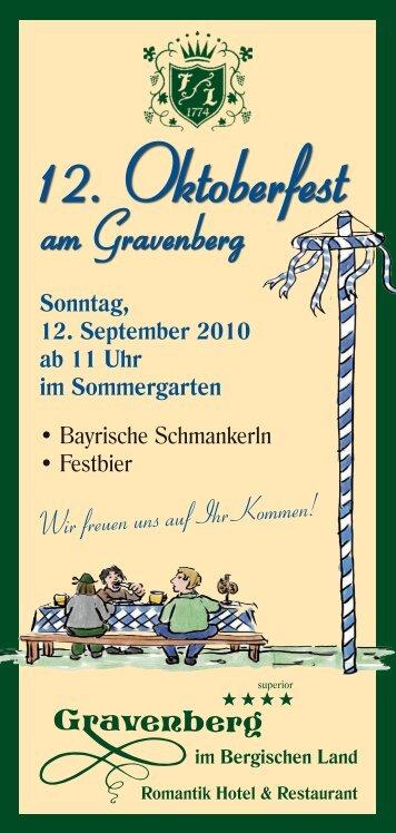 12. Oktoberfest - Romantik Hotel Gravenberg