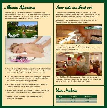 Wochenend Arrangements - Romantik Hotel Gravenberg