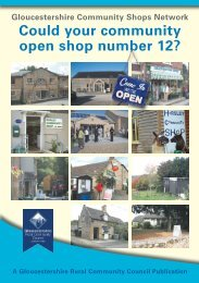 here - Gloucestershire Rural Community Council