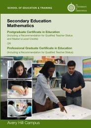 Maths PGCE - University of Greenwich