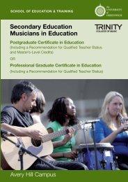 Music PGCE - University of Greenwich