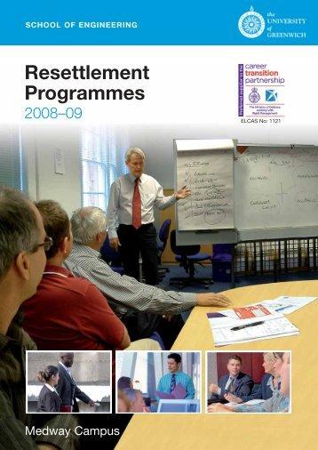 Resettlement Programmes - University of Greenwich