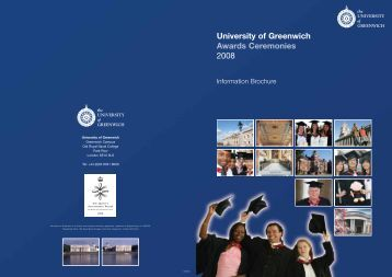 Information Brochure 2005 - University of Greenwich