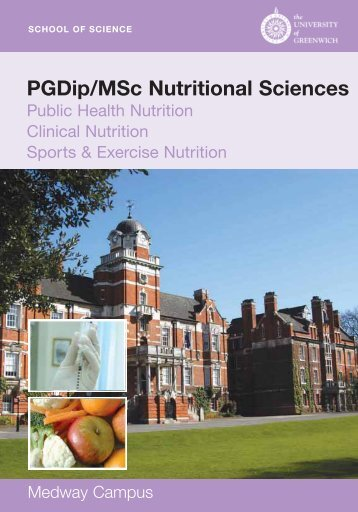 PGDip/MSc Nutritional Sciences - University of Greenwich