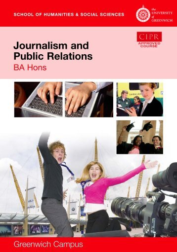 Journalism and Public Relations - University of Greenwich
