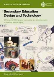 Secondary Education Design and Technology - University of ...