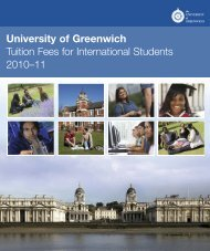 tuition fees - University of Greenwich