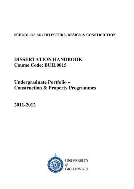 union university dissertation handbook