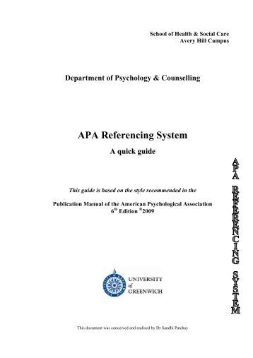 apa 6th edition referencing guide pdf