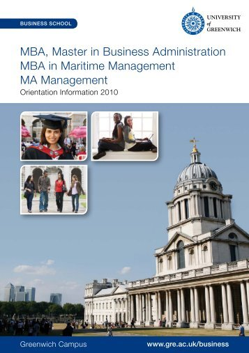MBA, Master in Business Administration MBA in Maritime ...