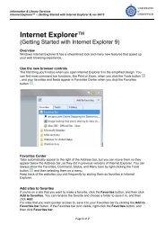 Internet Explorer - Getting Started with Internet Explorer 9