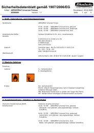 Sicherheitsdatenblatt - Schmincke