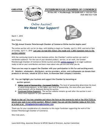 Information Letter - Donation & Sponsorship Form - Greater ...