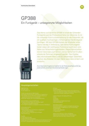 GP388 Ein Funkgerät – unbegrenzte Möglichkeiten - B Schmitt