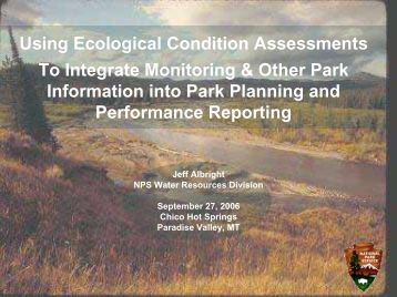Using Ecological Condition Assessments To Integrate Monitoring ...