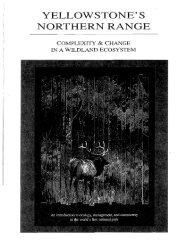 Yellowstone's Northern Range - Greater Yellowstone Science ...