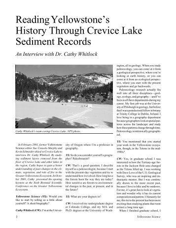 ys 10(1) for pdf - Greater Yellowstone Science Learning Center