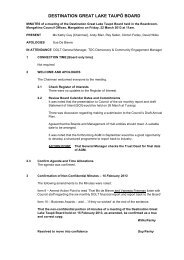 DGLT Board Minutes 22 March 2013 - Lake Taupo