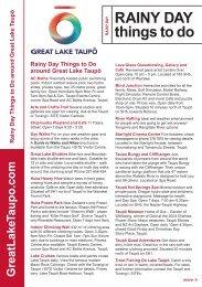 Rainy Day Things To Do Brochure - Lake Taupo