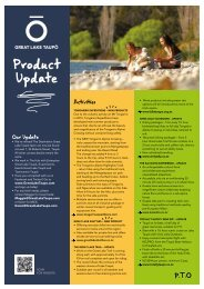 Great Lake Taupo Product Update Brochure