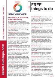 Free Things To Do brochure - Lake Taupo