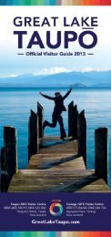 Great Lake Taupo Visitor Guide 2013