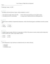 Test 6: Phases of Matter Review Questions Name: Wednesday ...