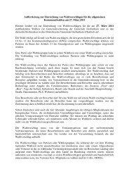 Aufforderung zur Einreichung von Wahlvorschlägen - Grebenhain