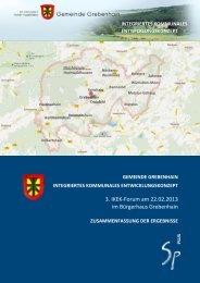 Ergebnisse 3. Forum - Grebenhain