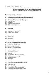 Geschäftsordnung der Gemeindevertretung und ... - Grebenhain