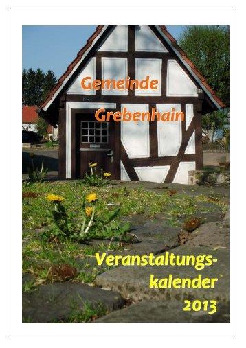Download Veranstaltungskalender 2013 - Grebenhain