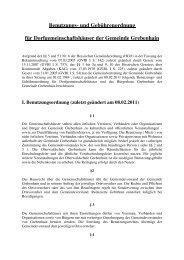 Benutzungs- und Gebührenordnung für ... - Grebenhain