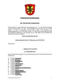 FRIEDHOFSORDNUNG - Grebenhain